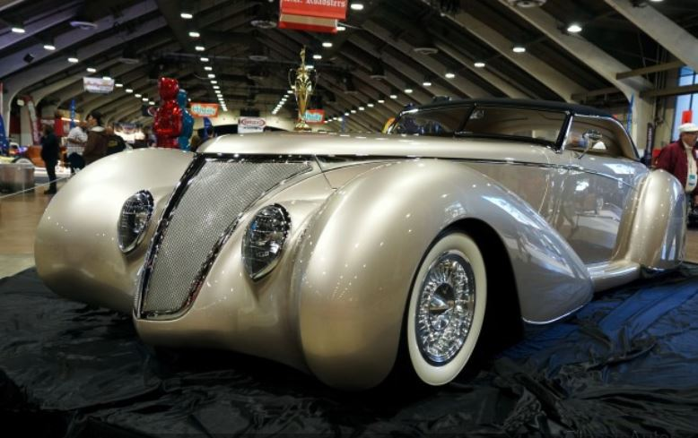 Rick Dore's 'After Shock,' 1937 Ford at Grand National Roadster Show Video