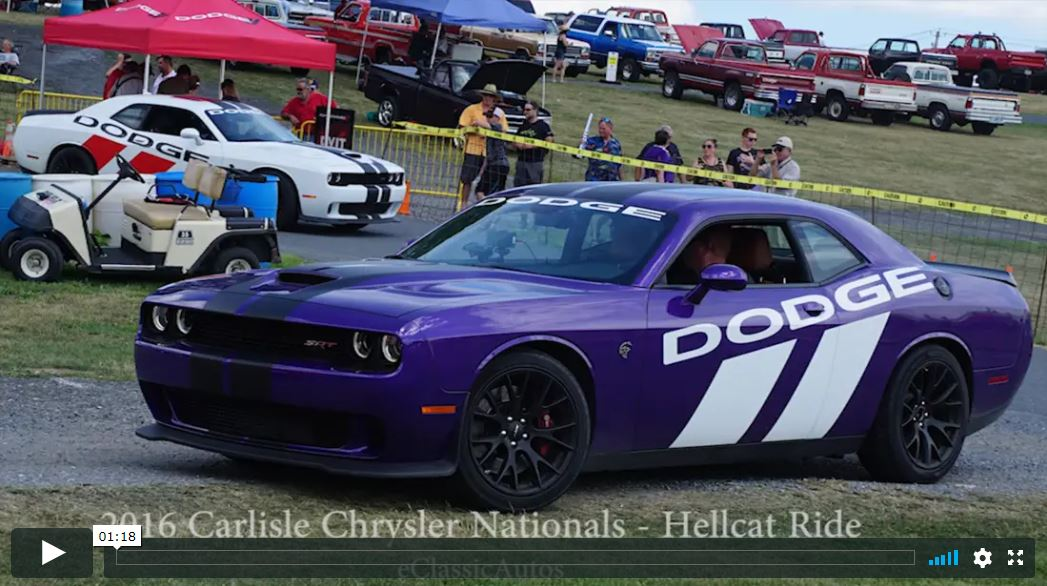 Taking a Ride in a Challenger Hellcat 2016 Carlisle Chrysler Nationals Video