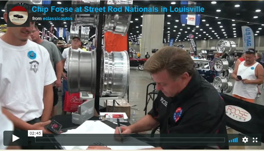 Chip Foose at NSRA 2018 Video