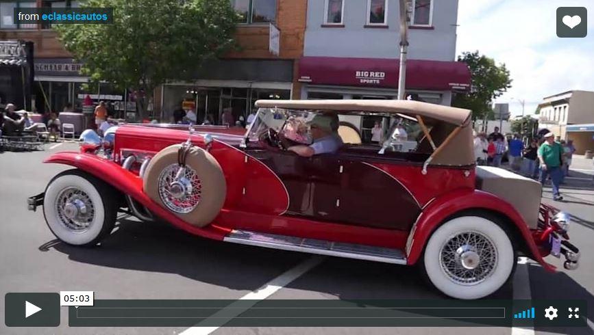 Auburn Cord Duesenberg Festival Parade 2014 Video