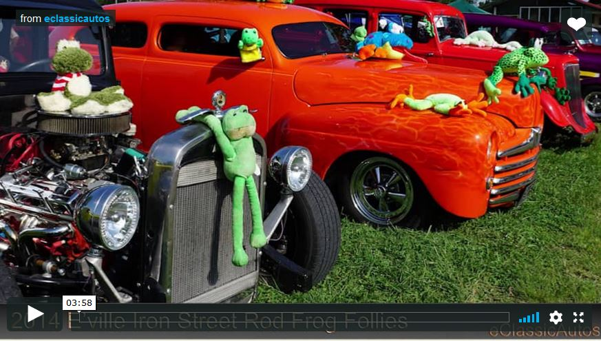 Frog Follies 2014, Street Rods in Evansville Video