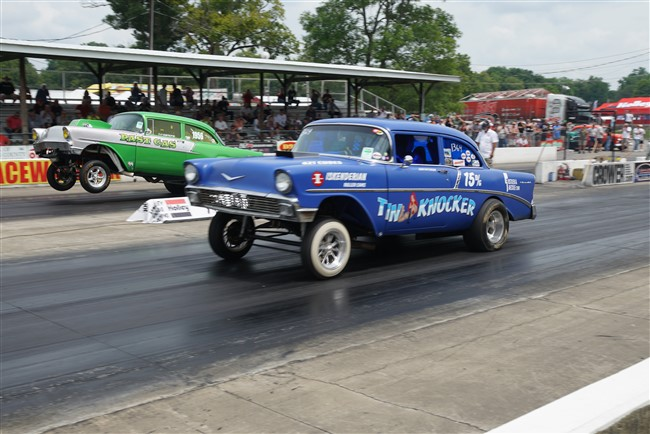Drag Racing at Tri-Five Nationals in Bowling Green, KY
