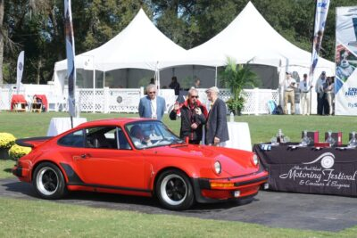 Hurley Haywood Awards 1977 Porsche 930 at Hilton Head Car Club Showcase
