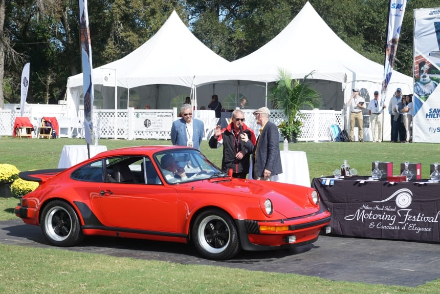 Hurley Haywood Awards 1977 Porsche 930 at 2019 Hilton Head Car Club Showcase