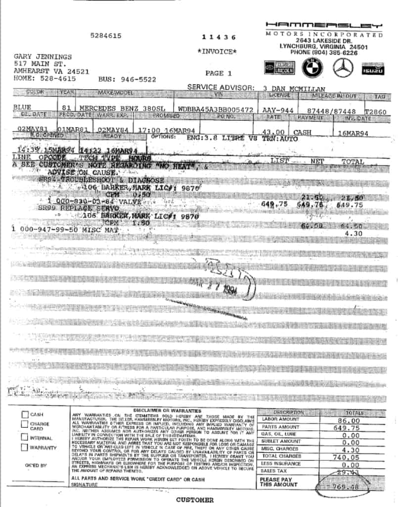 General Service Invoices